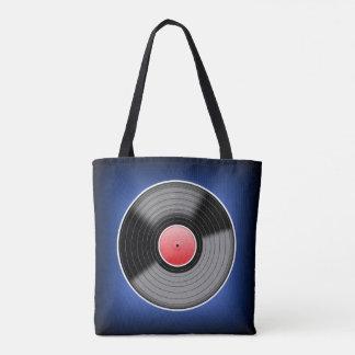 Vinyl Record Bag - Blue Fade. Tote Bag