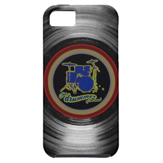 vinyl record ~ blue drums tough iPhone 5 case