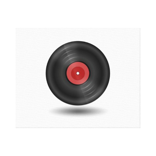 Vinyl Record Gallery Wrapped Canvas