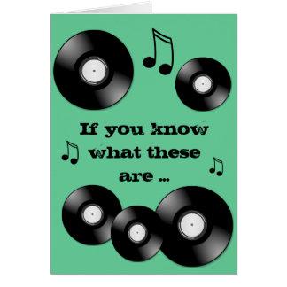 Vinyl Record Card