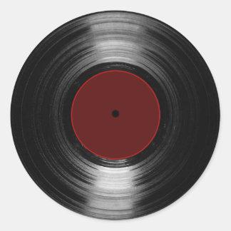 vinyl record classic round sticker