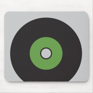 Vinyl Record Green Black and Grey Mouse Pads