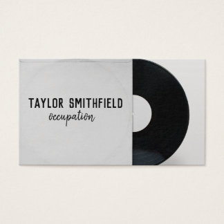 vinyl record music business card vintage modern