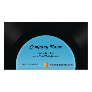 Vinyl Record Pack Of Standard Business Cards