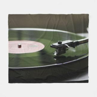 Vinyl Record Player Fleece Blanket