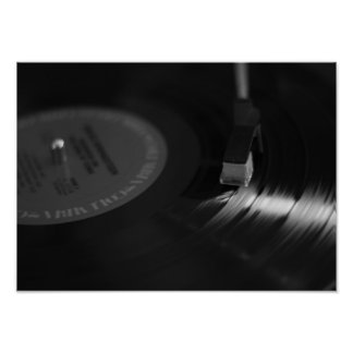 Vinyl Record Player Poster