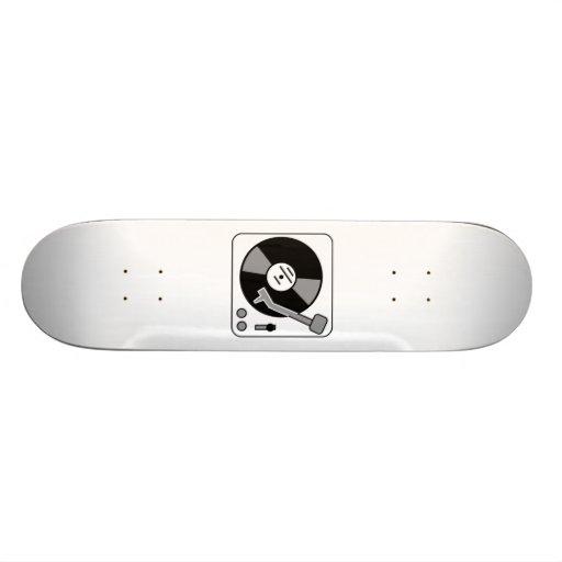 Vinyl Record Player Skate Board