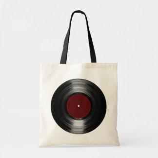 vinyl record budget tote bag