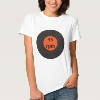 Vinyl record vintage 45 rpm 7 inch single t shirts