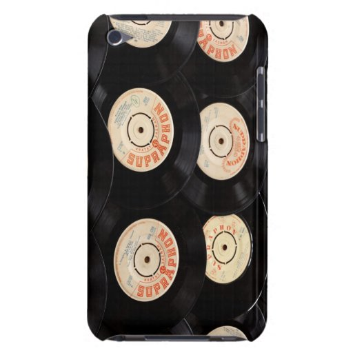 Vinyl Records Background Barely There iPod Cover