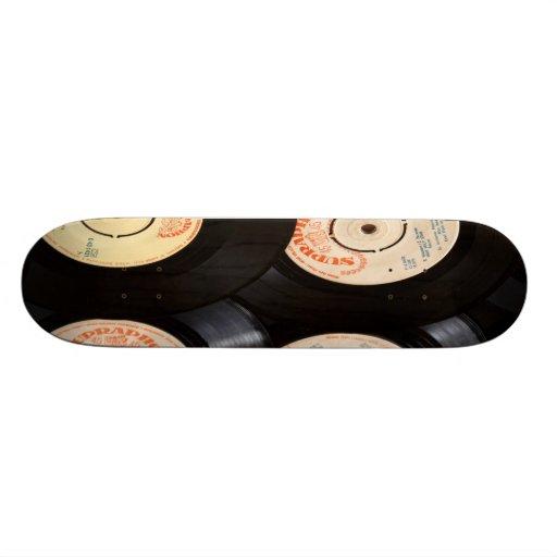 Vinyl Records Background Custom Skateboard