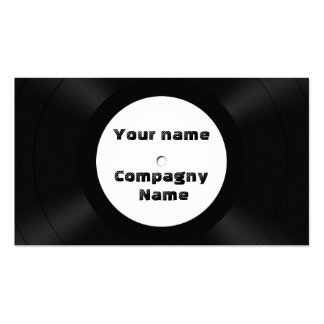 vinyl records pack of standard business cards