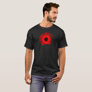 Vinyl Records Forever Red Color T-Shirt