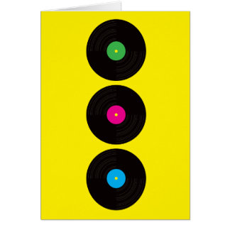 Vinyl Records Greeting Card