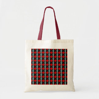 vinyl records pattern budget tote bag