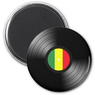 Vinyl reggae 6 cm round magnet