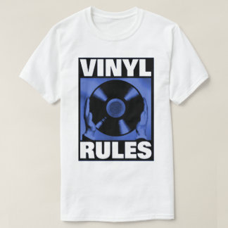 VINYL RULES IN BLUE T-Shirt