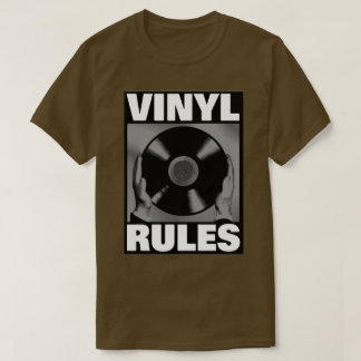 VINYL RULES IN GRAY T-Shirt