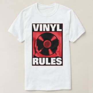 VINYL RULES IN RED T-Shirt
