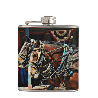 Vinyl Wrapped Flask - Tombstone Horses
