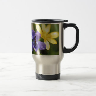 Viola And Ranunculus Travel Mug