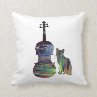 Viola Cat Art Cushion