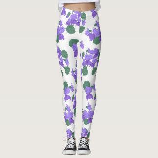 Viola floral. leggings