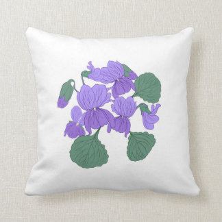 Viola floral pillow. cushion