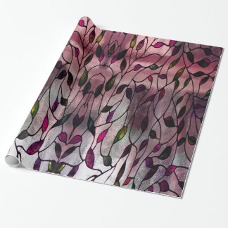 Viola Leafy Pattern Wrapping Paper