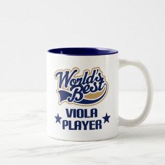 Viola Player Gift (Worlds Best) Two-Tone Coffee Mug