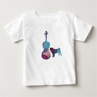 Viola pug art baby T-Shirt