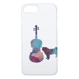 Viola pug art iPhone 8/7 case