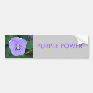 viola,  PURPLE POWER Car Bumper Sticker