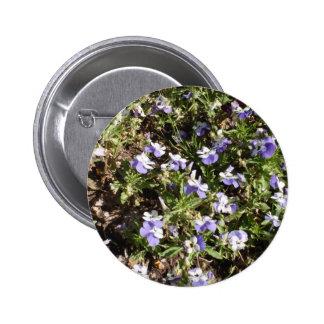 Viola Sorbet Delft Blue Pinback Button