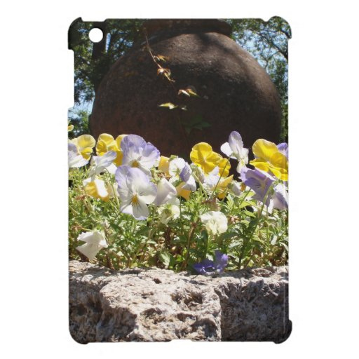 Violas In A Stone Trough. Case For The iPad Mini