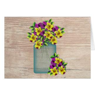 Violas Large Font Easter Card