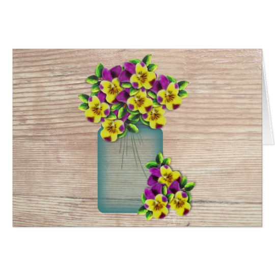 Violas Large Font Easter Card