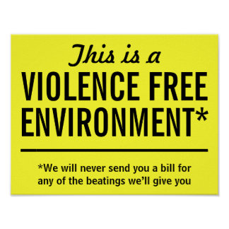 Violence Free Environment* Poster
