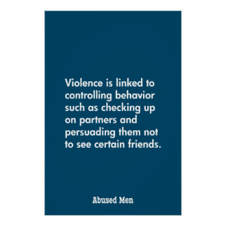 Violence Is Linked To Controlling Behavior … Poster