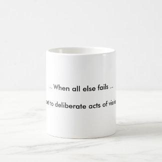 violence coffee mugs