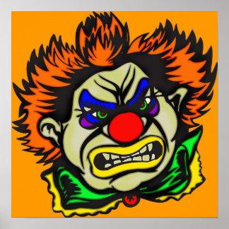 Violent Evil Clown Print