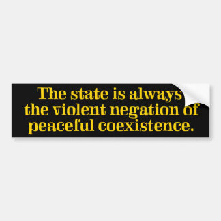 Violent Negation of Coexistence Bumper Sticker