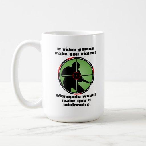 Violent Video Games Funny Mug