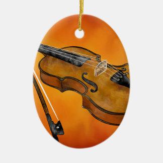 Violessina V1 - instrumental painting Ceramic Ornament