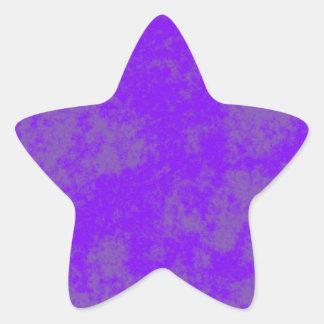 Violet1 Soft Grunge Design Star Sticker