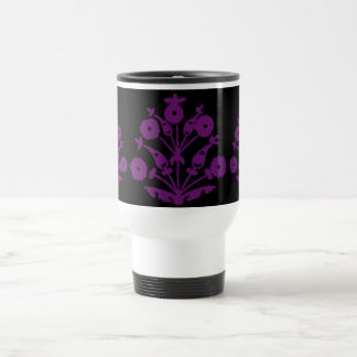 Violet Abstract Floral Mugs