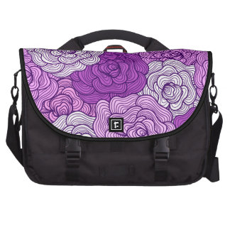 Violet Abstract Floral Pattern Laptop Bags