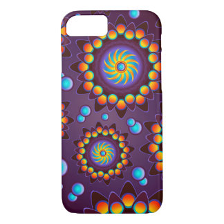 Violet abstract Flower Case