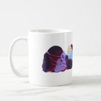 Violet and blue paint print, abstract mug