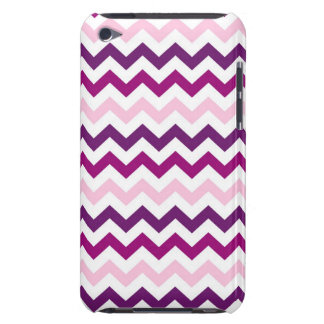 Violet and Pink Zig Zag Chevrons Pattern iPod Touch Case